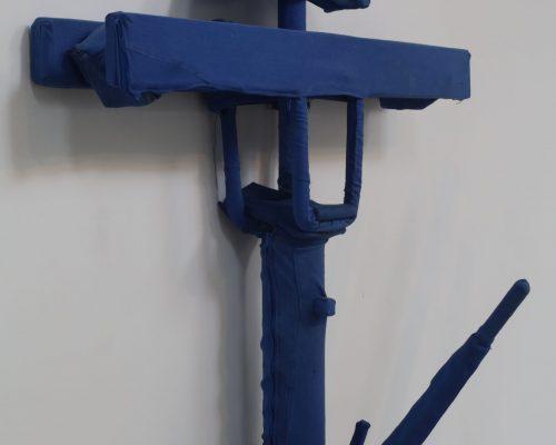 Le Patriarche - Mingori, bleu de travail - 90x110x20