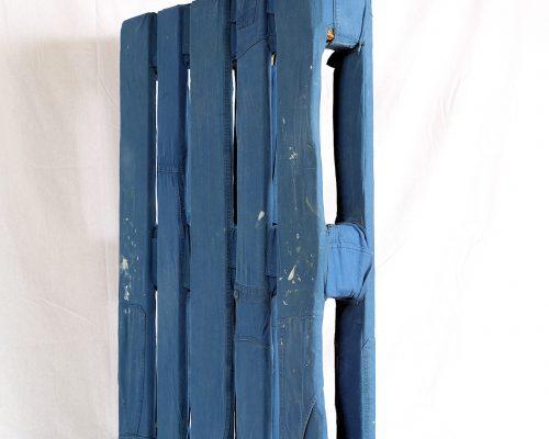 Héros ordinaires - palette, bleu de travail - 80x120x15