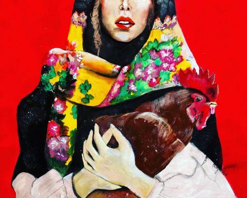 Marie-Ridoux-peinture-femme-a-la-poule