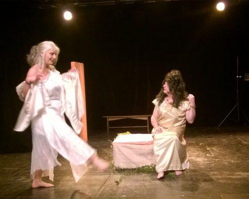 « Autour de Lysistrata » d'après Aristophane mis en scène par Linette Favreau avec Bruno Debray et Jean-Michel Fessol